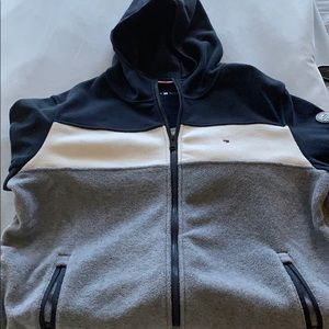 NEw Men's Tommy Hilfiger zipper fleece jacket LG